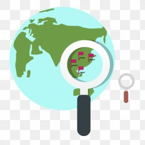 Earth Magnifying Glass - Globe Euclidean Vector Magnifying Glass PNG