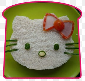 Creative Breakfast - Hello Kitty Bento Ham Sandwich Lunch PNG