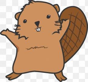 Beaver Standing Up - North American Beaver Cartoon Clip Art PNG