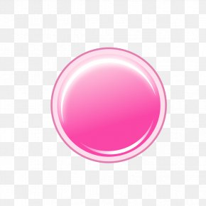 Pink Button Object - Pink Push-button Transparency And Translucency PNG