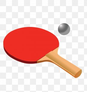Red Ping Pong Racket - Table Tennis Racket PNG