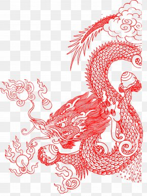 Red Dragon Shading - Paper Gratis Download Computer File PNG