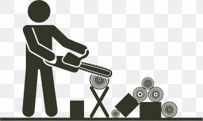 Sawing Wood - Brand Logo Human Behavior Font PNG