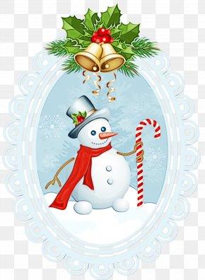 Fir Holly - Snowman PNG