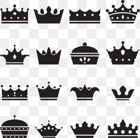 Hand Painted Black Crown - Crown Of Queen Elizabeth The Queen Mother Silhouette Illustration PNG