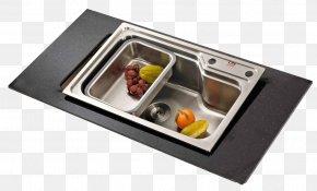 Stainless Steel Bucket Sink - Kitchen Utensil Stainless Steel Sink Tableware PNG