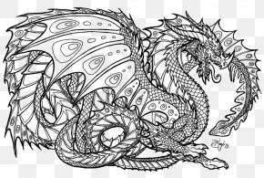Dragon - Adult Coloring Book: Stress Relieving Patterns Dragons Coloring Book Chinese Dragon PNG
