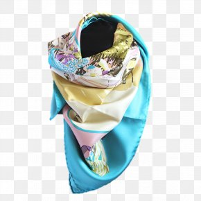 Arabs Wearing Scarf - Scarf Stole Turquoise PNG