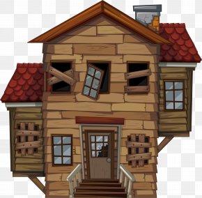 A Broken Log Cabin - House Royalty-free Illustration PNG