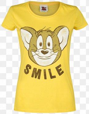 T-shirt - T-shirt Sleeve White Clothing Yellow PNG