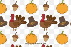 Repeat Thanksgiving Food - Turkey Thanksgiving Dinner Pattern PNG