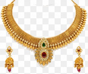 Jewellery Necklace Clipart - Earring Necklace Gold Jewellery Wholesale PNG