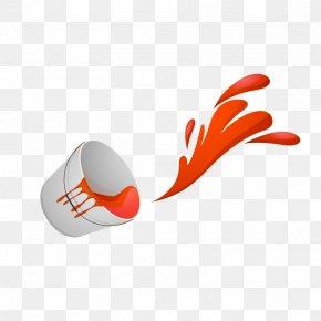 Happy Holi Bucket Orange Splatter Vector - Holi Wish High-definition Television Wallpaper PNG