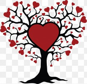 Tree Of Life Drawing Kiss - Clip Art Tree Of Life Sticker Design PNG