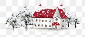 Snow Red Roof House - Snow PNG