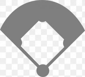 Black And White Baseball Diamond - Baseball Field Ball Diamond Baseball Park Clip Art PNG