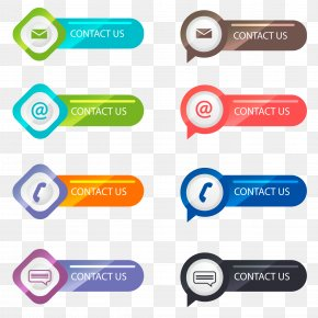 Vector Contact Button - Button Euclidean Vector Download Icon PNG