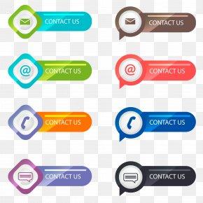Vector Contact Button - Button Euclidean Vector Download Icon PNG