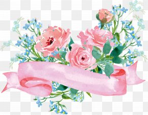 Floral Decoration - Garden Roses Flower Paper PNG
