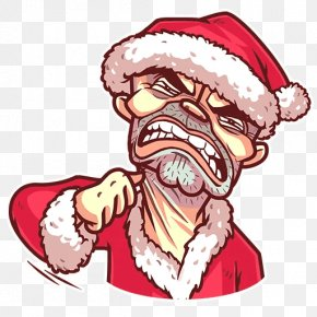 Santa Claus - Santa Claus Telegram Sticker Christmas Clip Art PNG