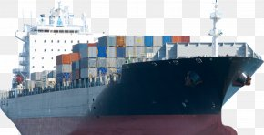 Cartoon Cargo Ship - Cargo Ship Freight Transport Intermodal Container PNG