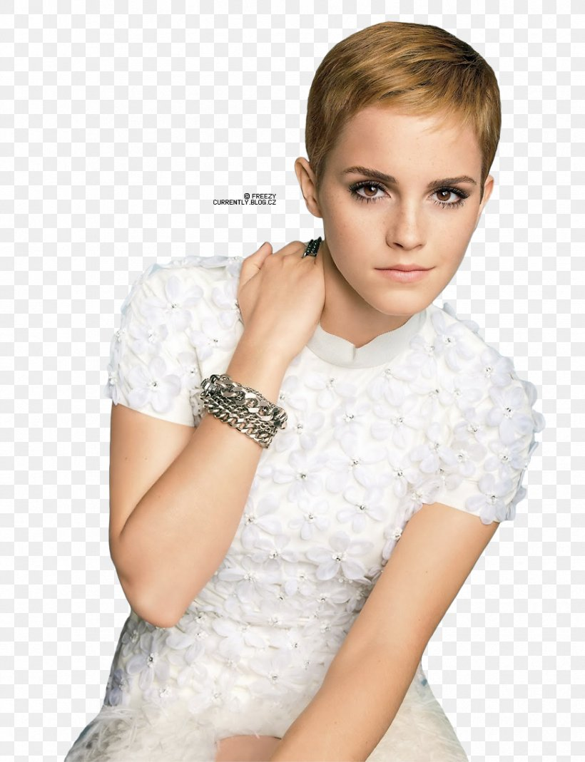 Emma Watson Pixie Cut Short Hair Hairstyle Png 874x1140px Watercolor Cartoon Flower Frame Heart Download Free