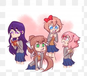 Doki Doki Literature Club Glitch - Cartoon Fan Art Doki Doki Literature Club! PNG