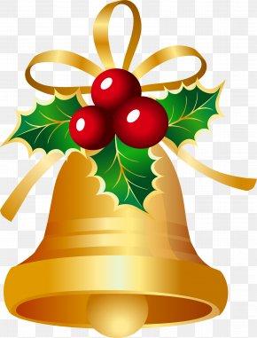 Christmas Bell - Christmas Card Jingle Bell Clip Art PNG