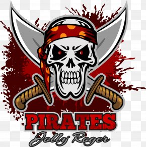 Cartoon Pirate Element - Logo Piracy Illustration PNG