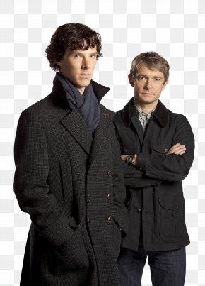 Benedict Cumberbatch - Benedict Cumberbatch Sherlock Holmes Doctor Watson Martin Freeman PNG