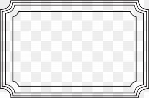 Retro Black Frame Pattern - Board Game Line Black And White Angle Point PNG