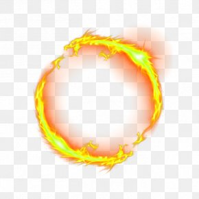 Yellow Chinese Wind Dragon Circle Effect Element - Dragon Fire PNG
