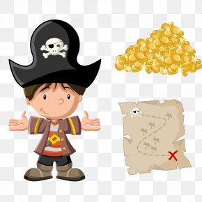 Vector Cartoon Pirate Material - Piracy Cartoon Royalty-free Illustration PNG