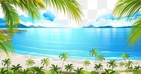 Vector Lake - Tropical Islands Resort Euclidean Vector Illustration PNG