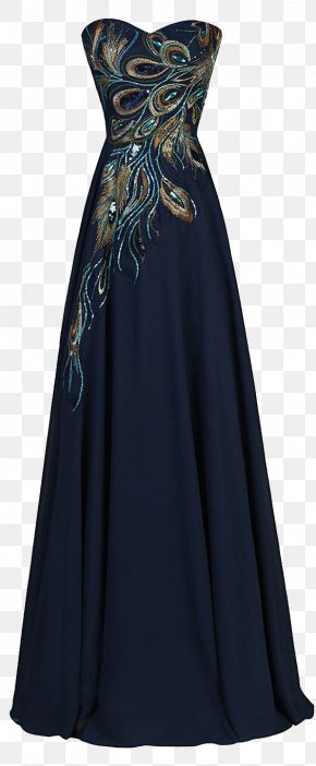 Peacock Dress - Wedding Dress Evening Gown Prom PNG