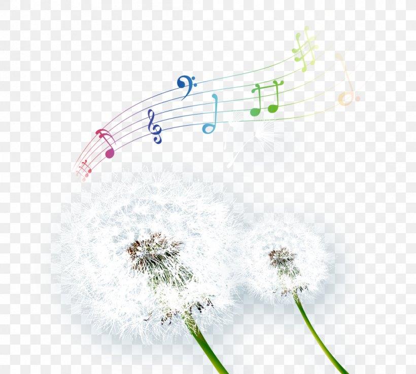 Common Dandelion Taraxacum Platycarpum Musical Note, PNG, 1111x1001px, Watercolor, Cartoon, Flower, Frame, Heart Download Free