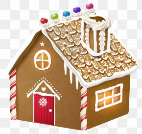 Gingerbread House Clipart Image - Gingerbread House Ginger Snap Clip Art PNG