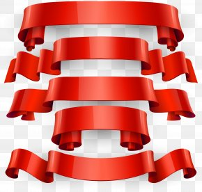 5 Red Ribbon Banners Vector - Euclidean Vector Banner Clip Art PNG