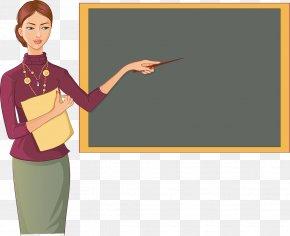 Cartoon Teacher - School Teacher Blackboard Classroom PNG