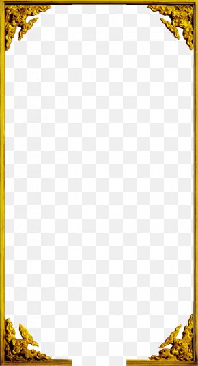 Classical Gold Frame - Window Picture Frame Gold PNG