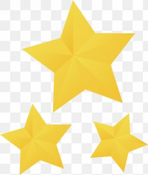 Yellow Star - Yellow Badge Star PNG