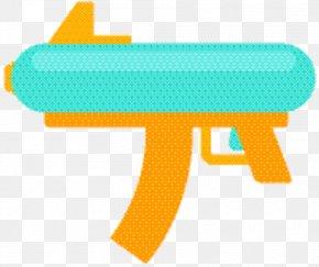 Gun Turquoise - Gun Cartoon PNG