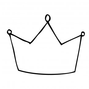 Crown Line Drawing - Drawing Crown Line Art Pencil Clip Art PNG