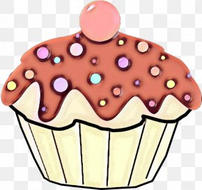 Muffin Food - Cupcake Baking Cup Cake Decorating Supply Icing Pink PNG