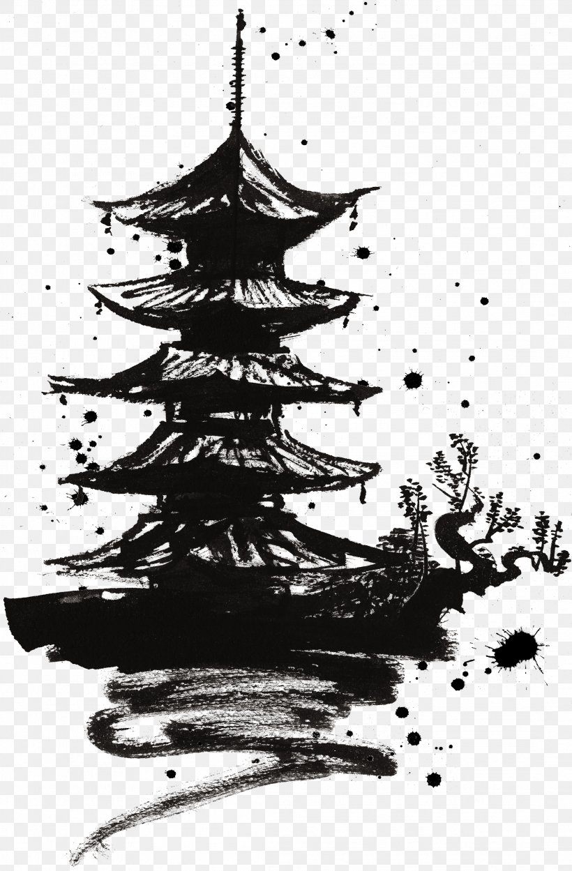 Japan Illustration, PNG, 2183x3327px, Japan, Art, Black And White, Branch, Calligraphy Download Free