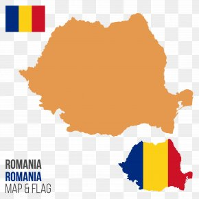 Vector Map Of Romania - Vector Map Flag Of Romania Royalty-free PNG