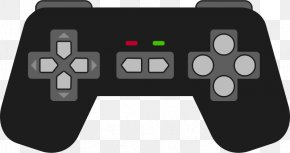 Controller Cliparts - Black Wii PlayStation 4 Xbox 360 Controller Game Controller PNG