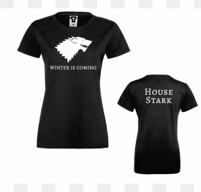 T-shirt - T-shirt House Stark Winter Is Coming Fire And Blood House Arryn PNG