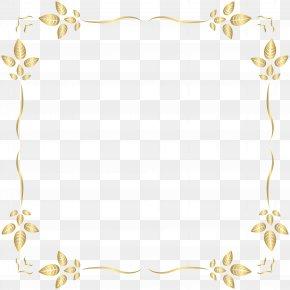 Golden Border Frame Clip Art - Clip Art PNG