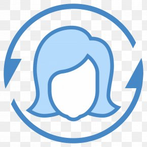 Female User Icon Design PNG